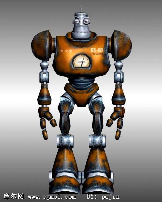 机器人游戏角色3d模型(低模)