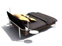 简约便捷单人床3D模型