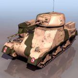 装甲坦克3D模型
