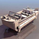 海军陆战队水陆两用装甲车3D模型
