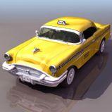 老式别克出租车3D模型