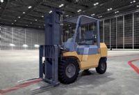 万能装卸车,叉式装卸车3D模型