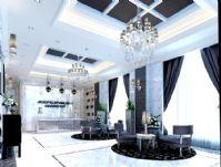 公司大厅客厅接待处整体效果3D模型