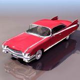 红色老式汽车3D模型