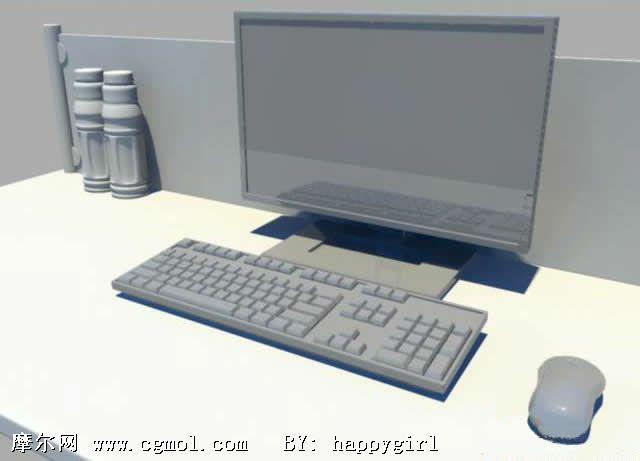 苹果笔记本3d模型_显示器 键盘 鼠标3D模型_数码产品_电子电器_3D模型免费下载_摩尔网