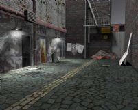 破旧小巷场景3D模型(带材质)