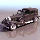 凯迪拉克老爷车3D模型(低模)