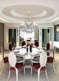 现代豪华时尚客厅整体效果3D模型(带材质)