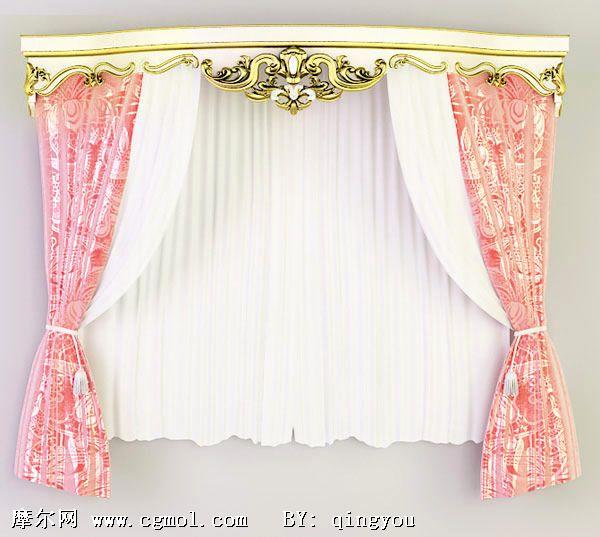 材质/贴图: 无 关键词:欧式窗帘