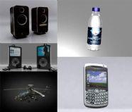 音箱,ipod,战斗直升机,纯净水,手机3D模型