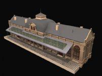 火车站3D模型