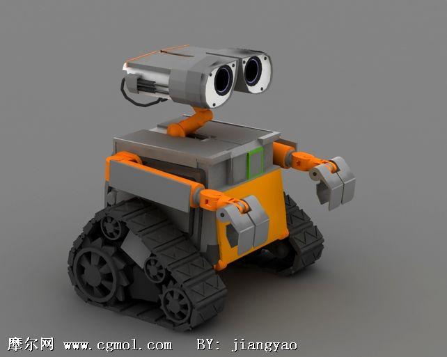 机器人总动员瓦力(wall-e)3D模型