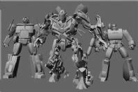 高精度变形金刚(Transformers)全套角色3D模型