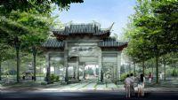 公园大门外景3D模型