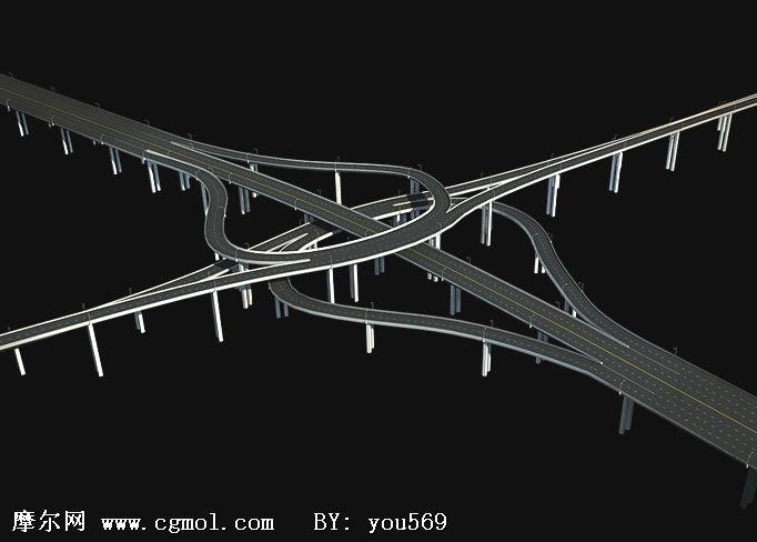 高架桥,高速路3d模型