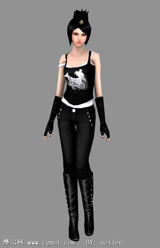 时尚美女3d模型 现实角色