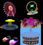 游乐场摩天轮,能量风暴,旋转木马,碰碰车,旋转秋千,鬼屋3D模型
