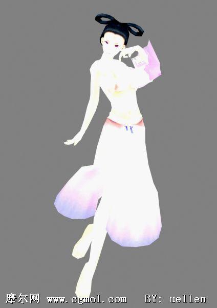 游戏美女3D角色_其他模型舞曲女声欧美_游戏角色_3D模型图片