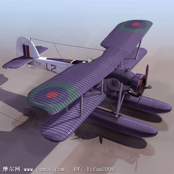 水陆两用飞机,两栖飞机3d模型