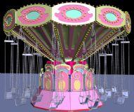 旋转秋千游乐园娱乐设施3D模型