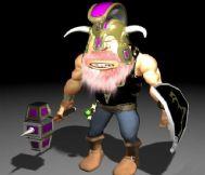 蛮人战士卡通角色3D模型