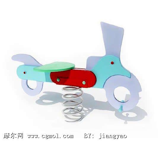 儿童玩具弹簧木马3d模型