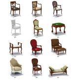 欧式古典椅子家具3D模型