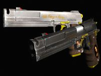 鬼泣之黑檀木与白象牙手枪3D模型