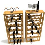 葡萄酒,酒杯,支架3D模型