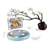 墙画,塑胶花,千纸鹤家居装饰3D模型