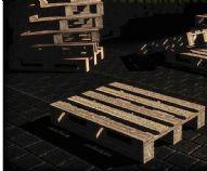 木床底座游戏低模3D模型