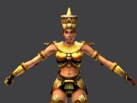 埃及女战士(低模已蒙皮)3D模型