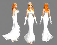 QQ炫舞时尚美丽新娘装3D模型