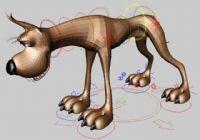 小狗3D模型(四肢已绑定)