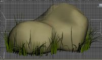 石头草地自然场景3D模型