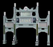 中式古代建筑3D模型