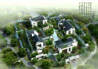 别墅住宅鸟瞰场景3D模型