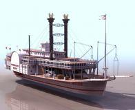 皇后号轮船3D模型