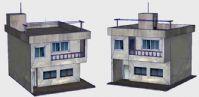 水泥材质的普通居民小楼房3D模型