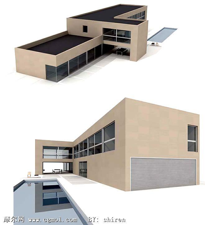 3D现代建筑模型