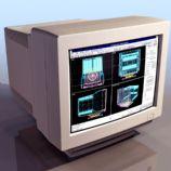 老式电脑显示器3D模型
