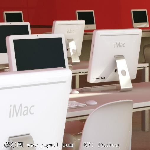 苹果电脑 iMac 3D模型