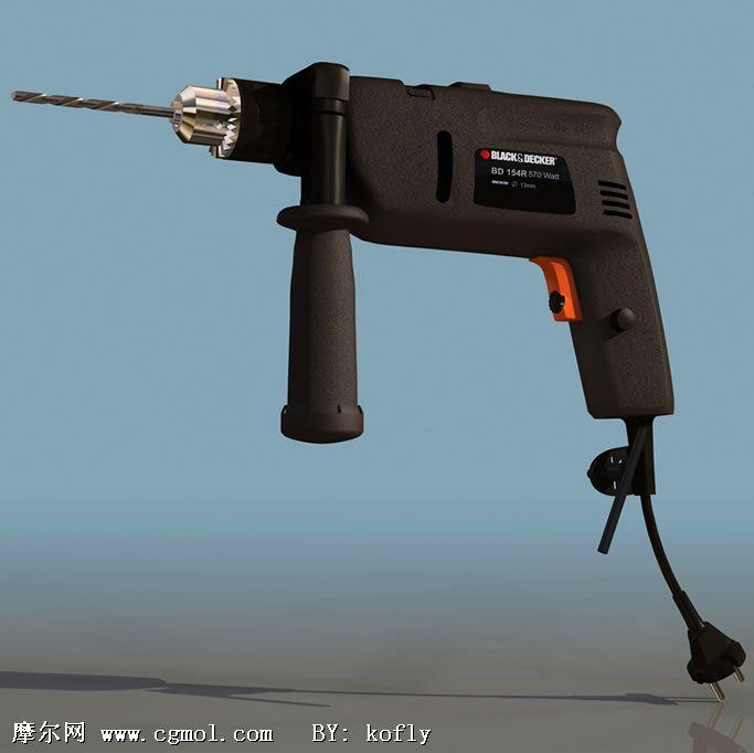 电钻工具3D模型