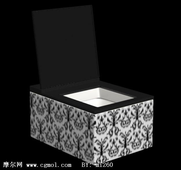 冲水式马桶3d模型,卫浴厨房