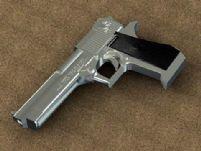 银色手枪3D模型