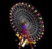游乐场里的摩天轮3D模型
