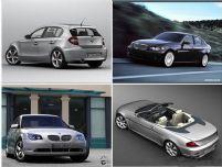 四款不同车型的BMW宝马汽车3D模型