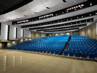 会议厅,演出场所,大会堂整体效果3D模型