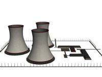 发电站场景3D模型