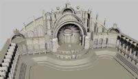 一个很精细的MAYA广场场景3D模型